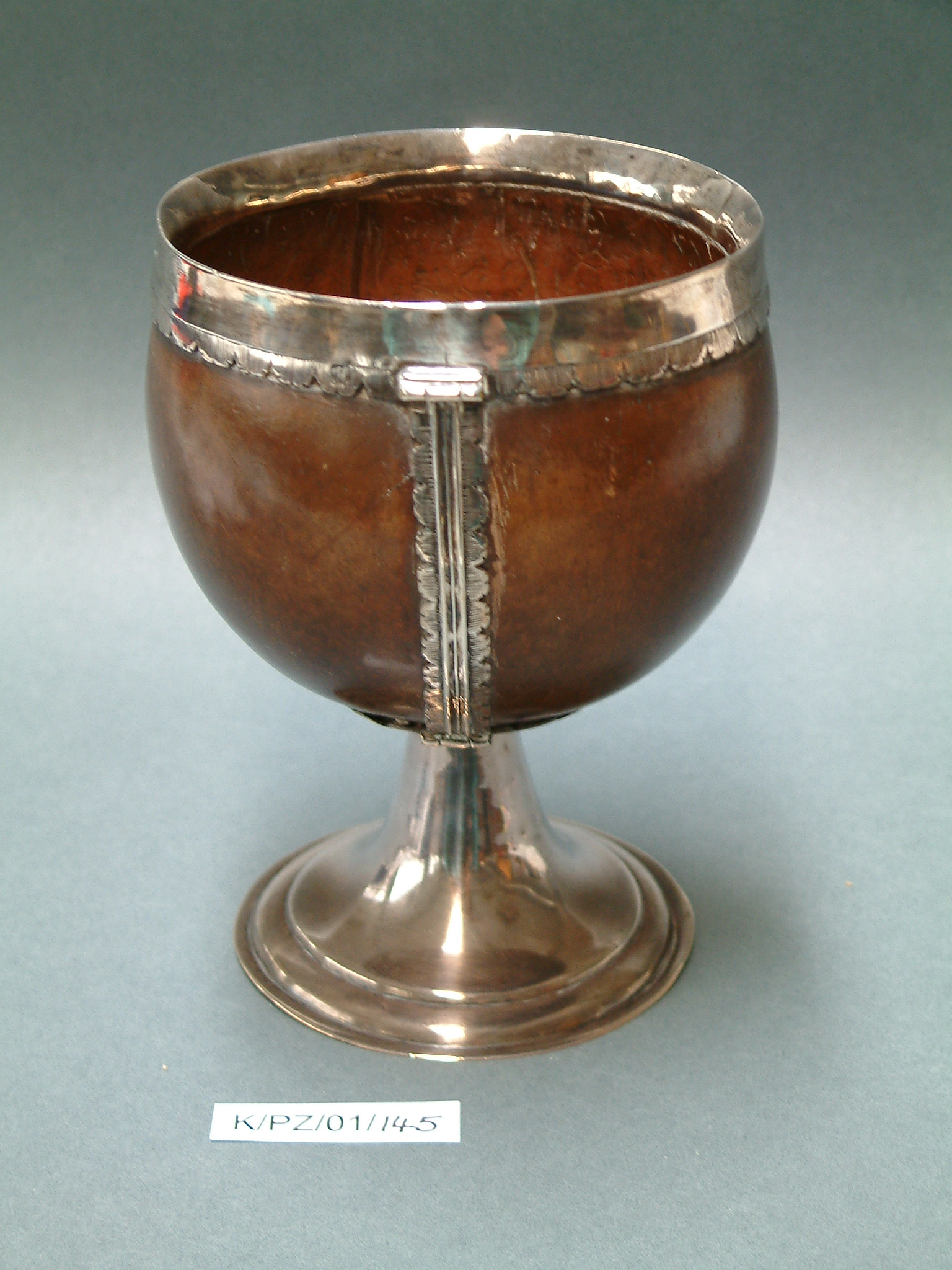 Coconut cup of Charles Armitage Brown; Image courtesy of Keats House, City of London